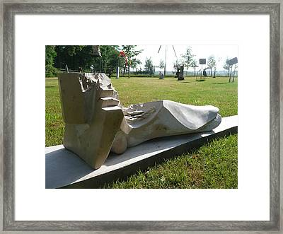 Naked Girl Framed Print by Jos Hamann