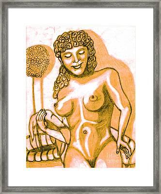 Naked Goddess Framed Print by Richard Heyman