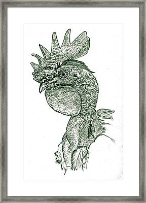 Naked Neck Rooster Framed Print