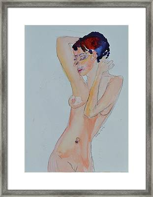 Framed Print featuring the painting Naked Noelle by Beverley Harper Tinsley