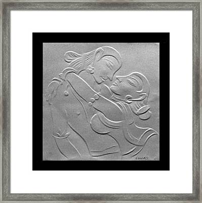 Nakhachitra-fingernail Relief Drawing Framed Print by Suhas Tavkar