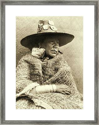 Nakoaktok Chief's Daughter Framed Print by Padre Art