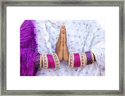 Namaskaram Framed Print by Tim Gainey