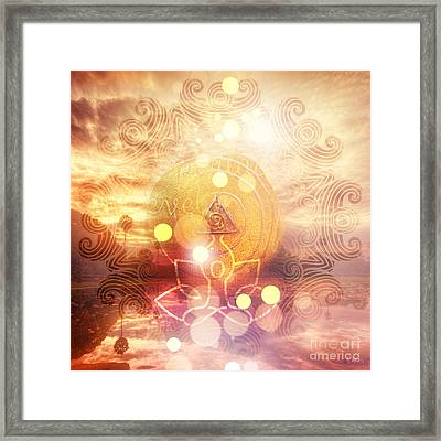 Namaste Framed Print by Mo T
