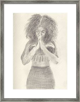 Namaste Framed Print by Robert Alexander