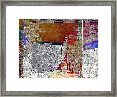 Framed Print featuring the mixed media Name This Piece by Tony Rubino