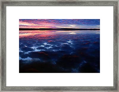 Namekus Lake Sunrise Framed Print by Larry Ricker