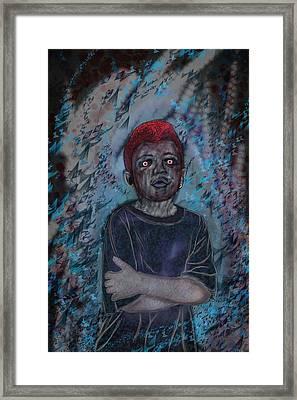Nameless Blue Framed Print by Leon Gorani