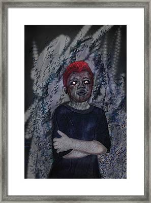 Nameless Gray Framed Print by Leon Gorani
