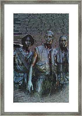 Names And Faces  Panel W41 Framed Print