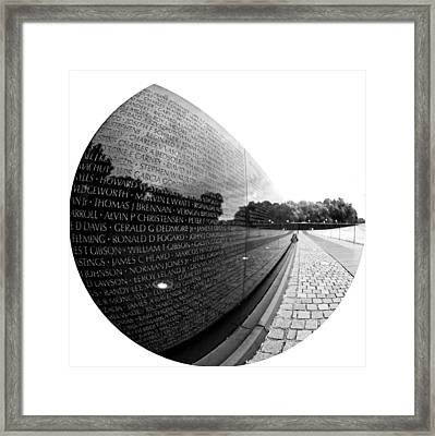Names Framed Print by Mitch Cat