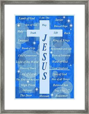 Names Of Jesus Framed Print