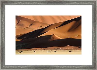 Namib Dunes Framed Print by Muriel Vekemans