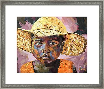 Madagascar Farm Girl Framed Print