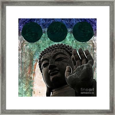 Namo Buddhaya Framed Print