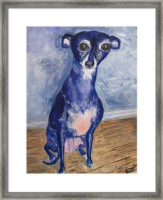 Framed Print featuring the painting Nana by Barbara Giordano