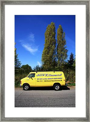 Nanaimo Truck Framed Print by Kreddible Trout