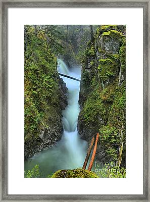 Nanaimo Waterfall Spectacular Framed Print by Adam Jewell