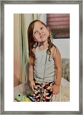 Nana's Necklace Framed Print