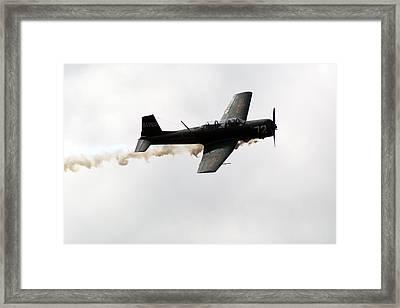 Nanchang Cj6 Fighter In Flight Framed Print by Chris Day