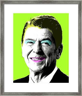 Nancy Reagan - Lime Framed Print