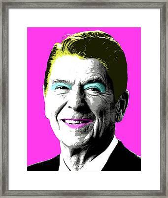 Nancy Reagan - Pink Framed Print