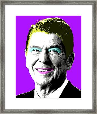 Nancy Reagan - Purple Framed Print