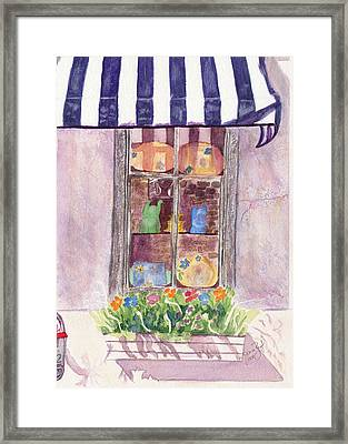 Framed Print featuring the painting Nancy's Charleston Window by Joan Zepf