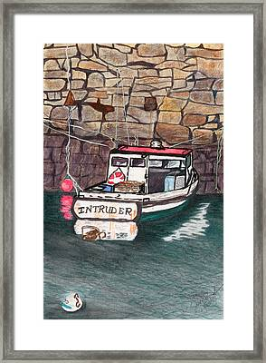 Framed Print featuring the painting Nancy's Dirty Boat by Joan Zepf
