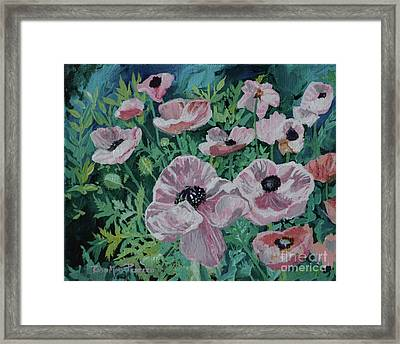 Framed Print featuring the painting Nancy's Poppies by Robin Maria Pedrero