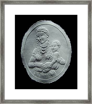 Nandi Tribe Woman And Child Framed Print by Suhas Tavkar