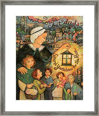 Nano Nagle, Foundress Of The Sisters Of The Presentation Framed Print by Jen Norton