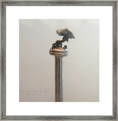 Framed Print featuring the sculpture Nanomicroinfinity Art Bonsai Tree by Phillip H George