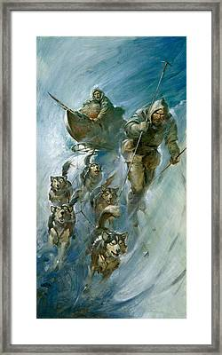 Nansen Conqueror Of The Arctic Ice Framed Print