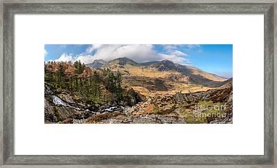 Nant Ffrancon Pass Snowdonia  Framed Print