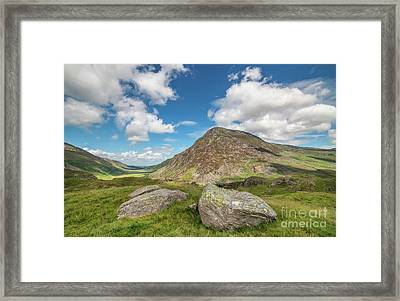 Nant Ffrancon Valley, Snowdonia Framed Print by Adrian Evans