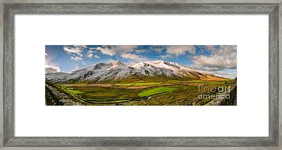 Nant Ffrancon Winter Panorama Framed Print