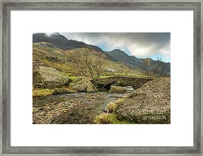 Nant Peris Bridge Framed Print by Adrian Evans