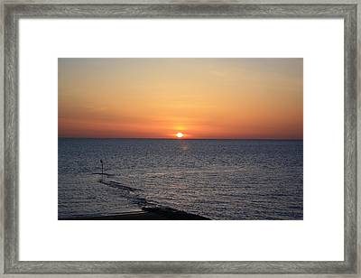 Framed Print featuring the photograph Nantasket Sunrise II Hdr by Greg DeBeck