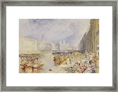Nantes Framed Print by Joseph Mallord William Turner
