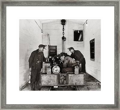 Nanticoke Pa Buttonwood Colliery Inman Shaft Glen Alden Coal Underground Motor Pit 1945 Framed Print