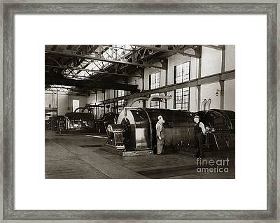 Nanticoke Pa Electrical Generators Glen Alden Mines Power Plant 1945 Framed Print
