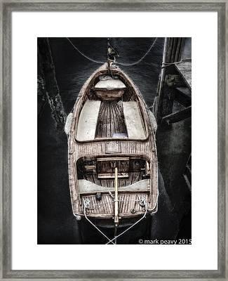 Nantucket Boat Framed Print