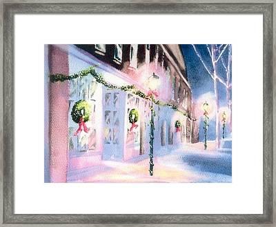 Nantucket Christmas Framed Print by Joseph Gallant