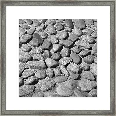 Nantucket Cobblestones Framed Print