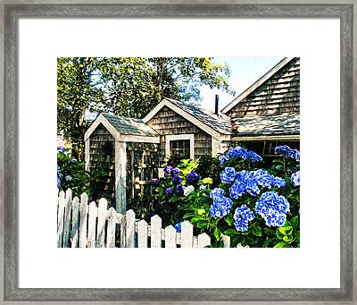 Nantucket Cottage No.1 Framed Print by Tammy Wetzel