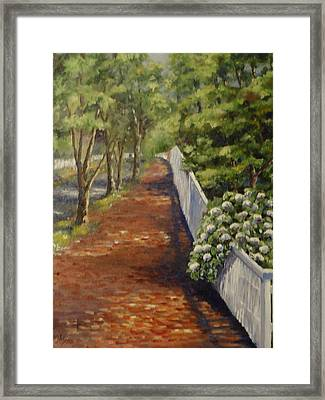 Nantucket Fence Number Three Framed Print by Andrea Birdsey Kelly