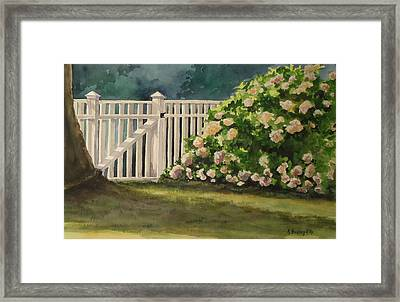 Nantucket Fence Number Two Framed Print by Andrea Birdsey Kelly