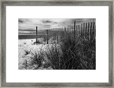 Nantucket Harbor Beach Dunes  Framed Print