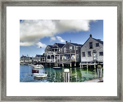 Nantucket Harbor In Summer Framed Print